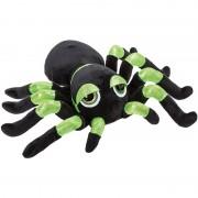 Geen Knuffel spin zwart/groen met glitters 22 cm knuffels kopen