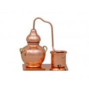 Alambic Cupru cu Suport, Miniatura Decorativa