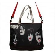 Geantă (geantă de mână) KISS - Painted Faces of Rock n Roll - HYP-108022