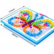 EB 294pcs/set Inteligente En 3D Los Niños Juguetes Rompecabezas Setas Bricolaje Clavo Regalos Juguetes
