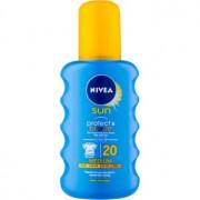 Nivea Sun Protect & Bronze spray de corp pentru un bronz intens SPF 20 200 ml
