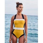 Boden Gelb, Blockfarben Santorini Badeanzug Damen Boden, 46 R, Yellow