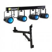 Beamz 4-Some Barra de focos LED para pared de 4 piezas (PL-4468-22831)