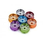Generic black : Free Shipping 4pcs big diameter Aluminium alloy wheel hubs wheels spare parts for Tamiya 4WD RC Car