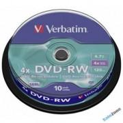 VERBATIM Spindle 10 DVD-RW 4x