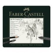 Set desen FABER-CASTELL Pitt Monochrome Carbune 19 piese, FC112973