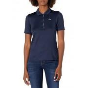 Lacoste Polo de Golf para Mujer, Navy Blue/White, 12