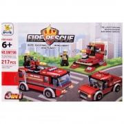Конструктор пожарни машини 3в1 (217 елемента) EmonaMall - Код W3007