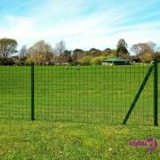 vidaXL Set Euro ograda sa šiljcima za tlo 25x1,2 m čelik zelena