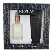 Replay Jeans Original! For Him confezione regalo Eau de Toilette 30 ml + doccia gel 100 ml Uomo