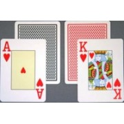 Carti de joc Jumbo Texas Hold'em 100% Plastic
