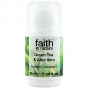 Faith in Nature golyós dezodor - Aloe Vera & Zöld Tea - 50 ml