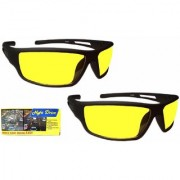 Night Vision Super Clear View AS SEEN ON TV Night Driving Glasses In Best Price (Yellow) (Set of 2)