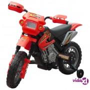 vidaXL Dječji električni crveni motocikl
