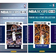NBA New Orleans Hornets Licensed 2015-16 Hoops Team Plus All-Star Trading Card Set