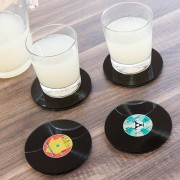 Suport pahare disc vinil -set