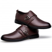 Zapatos De Vestir Formal O Boda De Ecocuero Y Velcro E-Thinker Para Hombre - Marrón