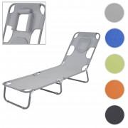 Sonnenliege HWC-B11, Relaxliege Gartenliege, Bauchliegefunktion Textil klappbar ~ Variantenangebot