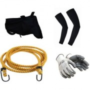 MPI Bike Combo- Universal Bike Cover Biker Glove Arm Sleeves Luggage Rope