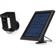 Ring Spotlight Cam Battery Solar Bundle- Black