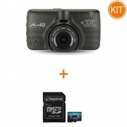 Kit Mio MiVue 798 Camera Auto 2.5K Sony Stravis Wi-Fi GPS ADAS + Kingston 64GB microSDXC Canvas Go Plus