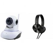 Zemini Wifi CCTV Camera and Extra Bass XB450 Headset for SAMSUNG GALAXY ACTIVE NEO(Wifi CCTV Camera with night vision  Extra Bass XB450 Headset )