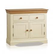 Oak Furnitureland Natural Oak & Painted Sideboards - Small Sideboard - Country Cottage Range - Oak Furnitureland