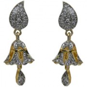 Pourni exclusive Designer American Diamond Jhumka Earring -PRER110