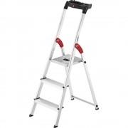 Hailo Alu-Stufenstehleiter StandardLine L60 Tragfähigkeit 150 kg 3 Stufen