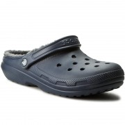 Чехли CROCS - Classic Lined Clog 203591 Navy/Charcoal