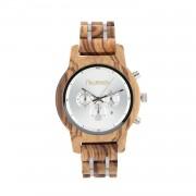 Niwatch Damski zegarek drewniany Niwatch CHRONO - ZEBRAWOOD