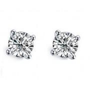 Cercei Borealy Stud Aur Alb 14K Synthetic Diamonds