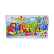 Babysid Collections Kids Building Blocks for Girls Boys My First Counting Train Blocks 45 Pcs Includes Starting Cards