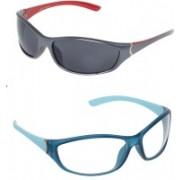 Vast Sports, Wrap-around Sunglasses(Grey, Clear)