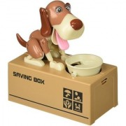 SHRIBOSSJI Dog Piggy Bank Robotic Coin Stealing Munching Toy Money Bank Storage Box for Kids Children Coin Bank .