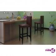 vidaXL Barske Stolice 6 kom Umjetna Koža Smeđe
