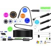 NTR ECAM26 Vízálló endoszkóp kamera 1280x720 HD 2MP 8mm átmérő 8LED USB-C/microUSB/USB 7m