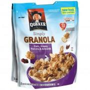 Quaker Natural Granola 2 Buste Da 978 Gr Miele-Uvetta-Mandorle