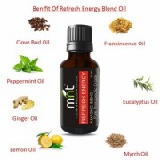 MNT REFRESH ENERGY AMAZING BLEND ESSENTIAL Oil (15 Ml) Pure Therapeutic Grade for Yoga & Balancing Energy