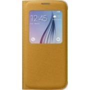 Husa S-View Textil Samsung Galaxy S6 G920 Yellow