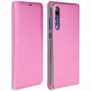 Avizar Flip Book Cover Capa Rosa para Huawei P20 Pro