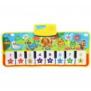 ER Música De Piano Musical Inglés Kids Play Alfombras Mat Juguete Electrónico Educativo -Varios Colores