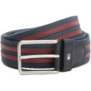 Tommy Hilfiger Men Red, Blue Genuine Leather, Fabric Belt