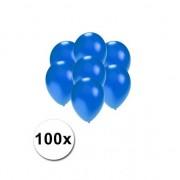 Shoppartners Kleine ballonnen blauw metallic 100 stuks