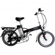 Bicicleta Electrica EcoMobile 350W X Blade Plegable Aluminio Negra