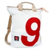 360° Taschen 360° Ketsch Rucksacktasche weiß / Zahl rot