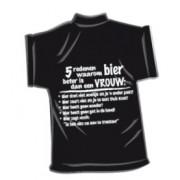 T-Shirtje-Bier beter is dan een vrouw