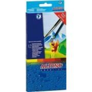 Creioane colorate ALPINO Aqualine acuarela cutie carton 12 culori-set