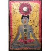 Buddha textil fali kép