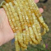 Sirag opal galben patratele 7-8mm, 40cm